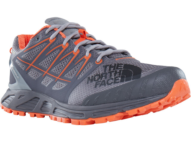 The North Face Ultra Endurance II GTX Shoes Men Blackened Pearl/Scarlet Ibis